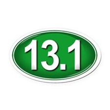 13.1 GREEN Marathon Oval Car Magnet