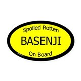 Spoiled Basenji On Board Oval Car Magnet