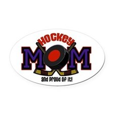 Hockey Mom Oval Car Magnet
