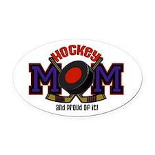 Hockey Mom Oval Car Magnet