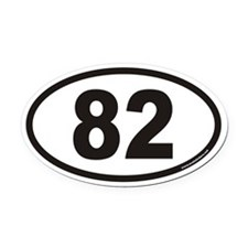 82 Euro Oval Car Magnet