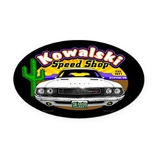 Kowalski Speed Shop - Color Oval Car Magnet