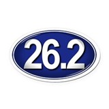 26.2 BLUE Marathon Oval Car Magnet