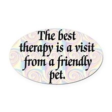 Therapy Pet Oval Car Magnet