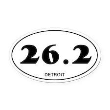 Detroit Marathon Oval Car Magnet
