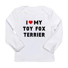 LUV MY TOT FOX TERRIER Long Sleeve Infant T-Shirt
