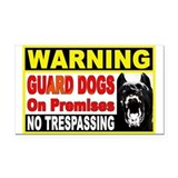 Guard Dog Rectangle Car Magnet
