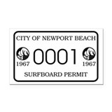 Newport Surfboard Permit 67' Rectangle Car Magnet
