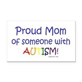 """Proud Mom"" Rectangle Car Magnet"