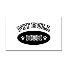 Pit Bull Mom Rectangle Car Magnet