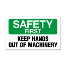 Safety First: Keep Hands Out Of Machinery Rectangl