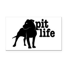 Pit Life Rectangle Car Magnet