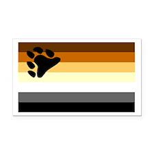 Bear Paw Flag Rectangle Car Magnet
