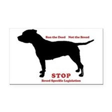 STOP BSL Rectangle Car Magnet