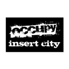 Occupy Your City Rectangle Car Magnet