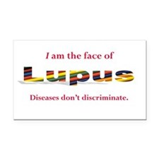 I am the face of Lupus Rectangle Car Magnet