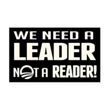 Leader Not Reader Rectangle Car Magnet