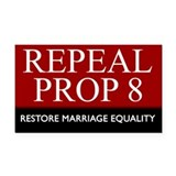 Repeal Prop 8 (Red) Rectangle Car Magnet