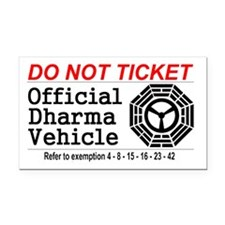 Dharma Vehicle Rectangle Car Magnet