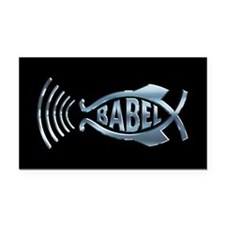Babel Fish Rectangle Car Magnet
