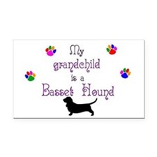 My Grandchild is a Basset Hound Rectangle Car Magn