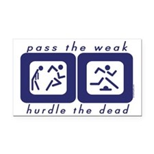 Pass the Weak - Hurdle the Dead Rectangle Car Magn