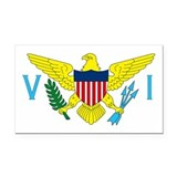 Virgin Islands Rectangle Car Magnet