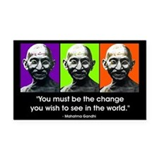 Be the change... Rectangle Car Magnet