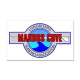 Mandos Cove Surfin Rectangle Car Magnet