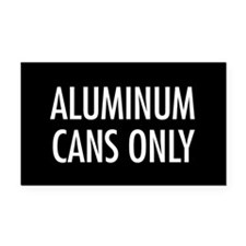 Aluminum Cans Only Rectangle Car MagnetBlack Serie