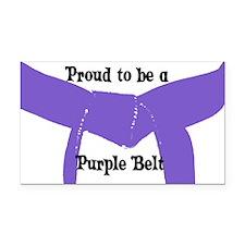 Proud to be a Purple Belt Rectangle Car Magnet