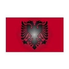 Albanian Rectangle Car Magnet