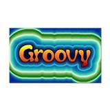 Groovy Rectangle Car Magnet