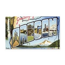 Oregon Rectangle Car Magnet
