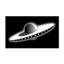 Classic UFO Rectangle Car Magnet