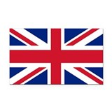 Great Britian Union Jack Rectangle Car Magnet