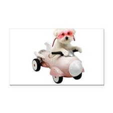 Bichon Fun #4 Rectangle Car Magnet