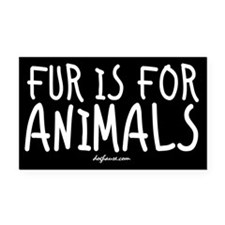 Fur Rectangle Car Magnet