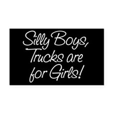 Silly Boys Rectangle Car Magnet