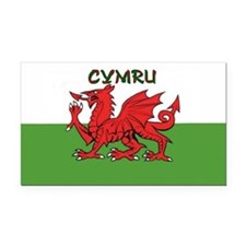 ...Cymru... Rectangle Car Magnet
