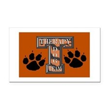 Therapy Dog Team Rectangle Car Magnet