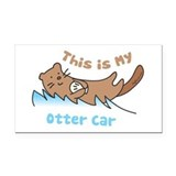 This Is My Otter Rectangle Car Magnet