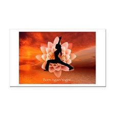 Born again Yogini Rectangle Car Magnet