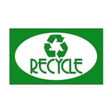 RECYCLE Rectangle Car Magnet