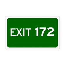 EXIT 172 Rectangle Car Magnet