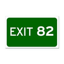 EXIT 82 Rectangle Car Magnet