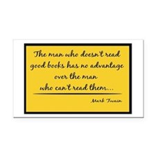 Twain Good Books--yellow Rectangle Car Magnet
