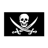 Calico Jack's Flag Rectangle Car Magnet