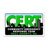 CERT 3x5 Rectangle Car Magnet for Hall County, GA
