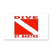Dive St. Barths Rectangle Car Magnet